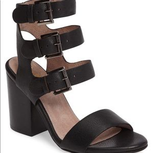 Seychelles Dilly Dally Leather Buckle Sandal 9